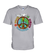 Peace is always beautiful V-Neck T-Shirt thumbnail