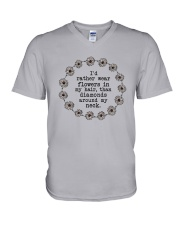 I'd rather wear flowers in my hair V-Neck T-Shirt thumbnail