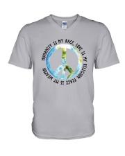 Humanity is my race V-Neck T-Shirt thumbnail