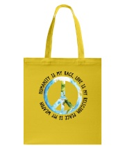 Humanity is my race Tote Bag thumbnail