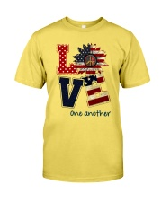 Love one another Premium Fit Mens Tee front