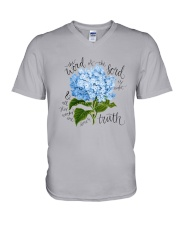 The word of the lord is right V-Neck T-Shirt thumbnail