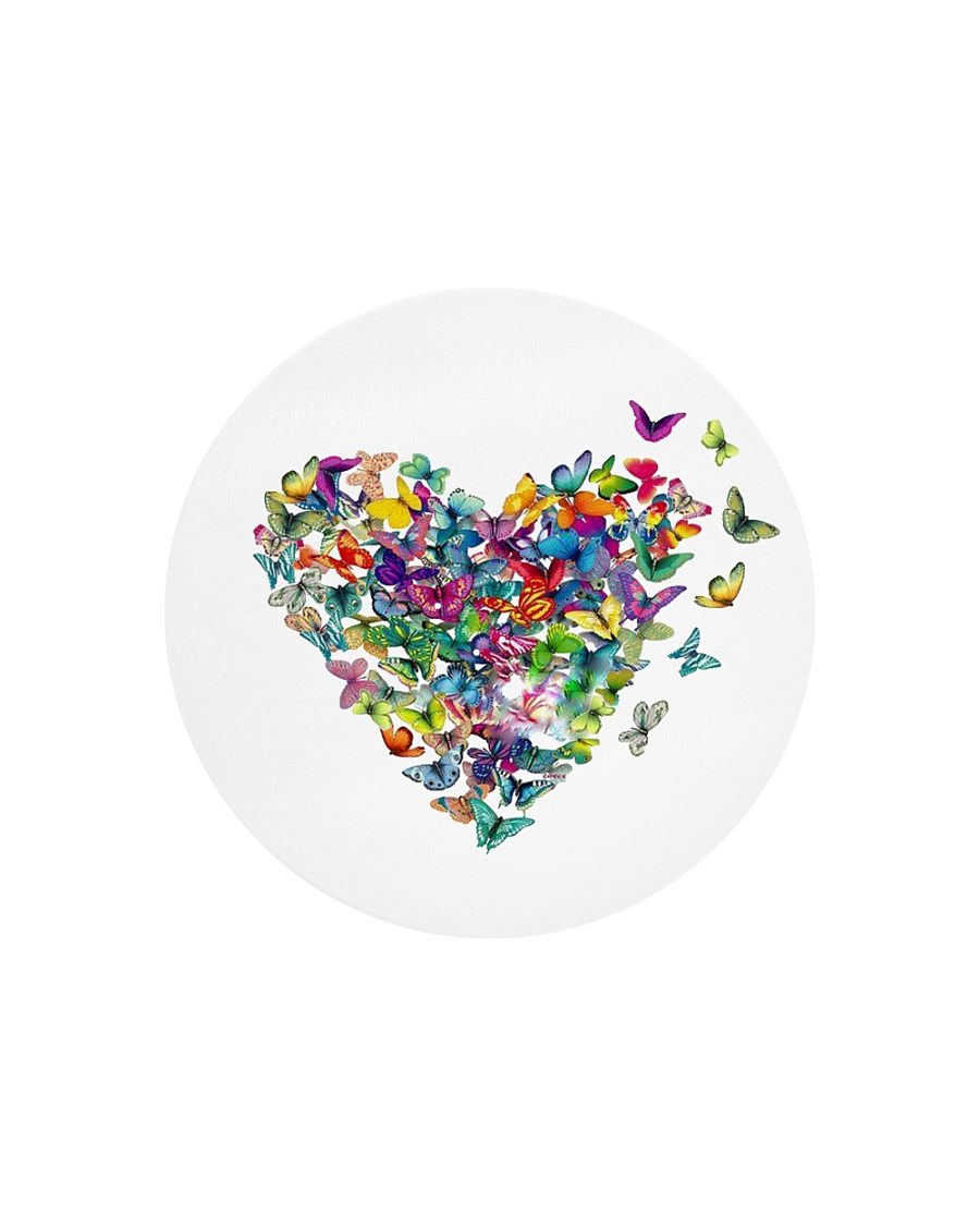 Butterfly Heart Circle Cutting Board