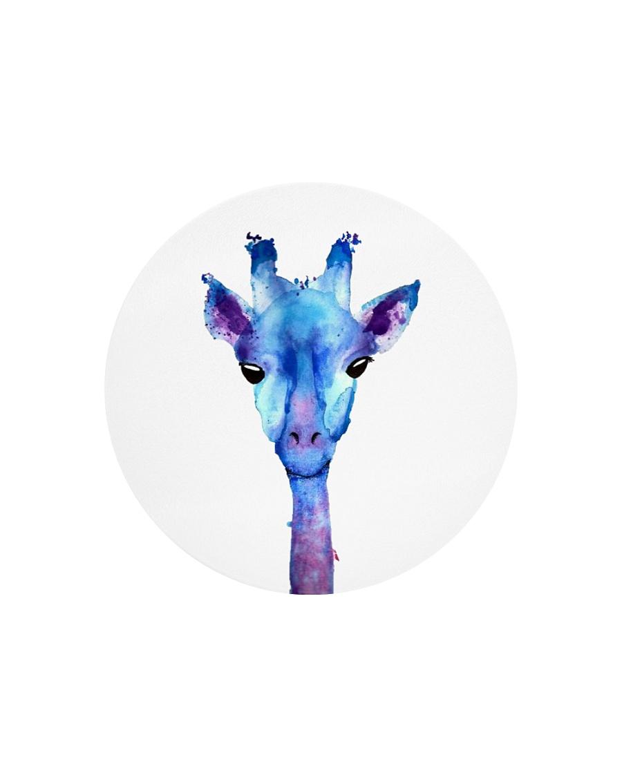 Blue Giraffe Circle Cutting Board