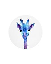 Blue Giraffe Circle Cutting Board front