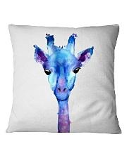 Blue Giraffe Square Pillowcase thumbnail
