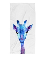 Blue Giraffe Beach Towel thumbnail