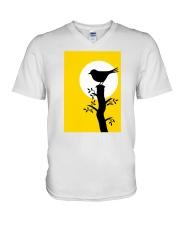Yellow Sun Bird V-Neck T-Shirt thumbnail
