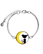 Yellow Sun Bird Metallic Circle Bracelet thumbnail