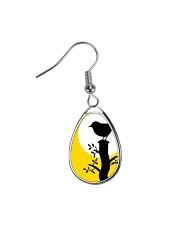 Yellow Sun Bird Teardrop Earrings thumbnail