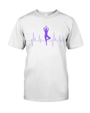 T-Shirt Man Heartbeat Yoga Premium Fit Mens Tee tile