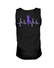 T-Shirt Man Heartbeat Yoga Unisex Tank back