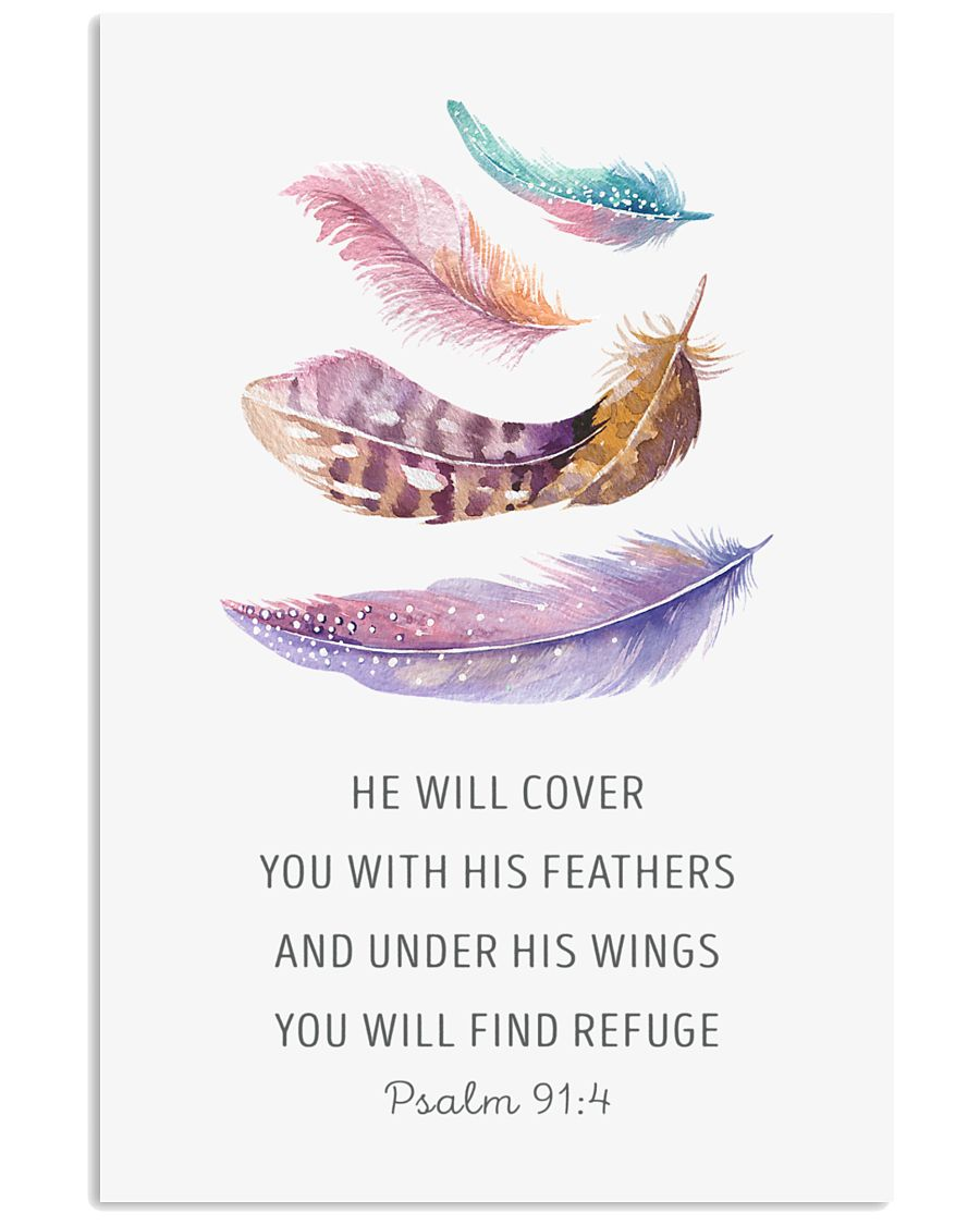 He  Will Cover You With His Feathers 11x17 Poster