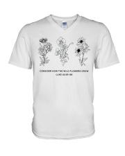 Consider How The Wild Flowers Grow V-Neck T-Shirt thumbnail