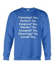 Christian - Yes - Perfect - No Crewneck Sweatshirt thumbnail