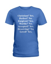 Christian - Yes - Perfect - No Ladies T-Shirt tile