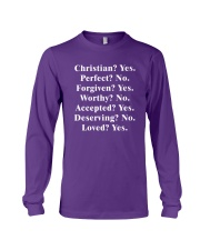 Christian - Yes - Perfect - No Long Sleeve Tee tile