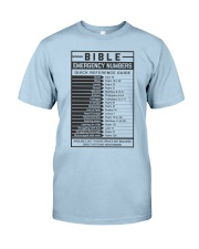 Bible Emergency Numbers Classic T-Shirt front