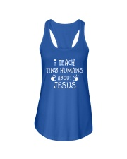 I Teach Tiny Humans About Jesus Ladies Flowy Tank thumbnail