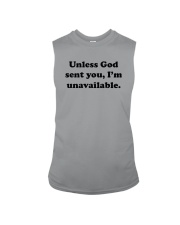 Unless God Sent You - I Am Unavailable Sleeveless Tee thumbnail