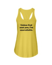 Unless God Sent You - I Am Unavailable Ladies Flowy Tank thumbnail