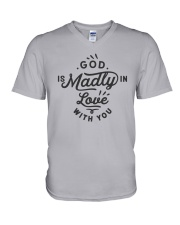 God Is Madly In Love With You V-Neck T-Shirt thumbnail