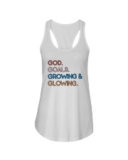 God - Goals - Growing And Glowing Ladies Flowy Tank thumbnail