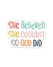 So God Did Sticker - Single (Horizontal) thumbnail
