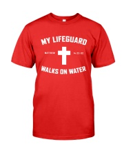 My Lifeguard Walks On Water Premium Fit Mens Tee thumbnail