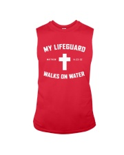 My Lifeguard Walks On Water Sleeveless Tee tile