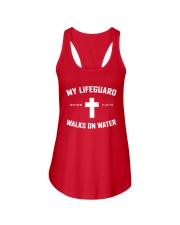My Lifeguard Walks On Water Ladies Flowy Tank thumbnail
