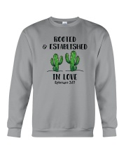 Rooted And Established In Love Crewneck Sweatshirt thumbnail
