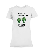 Rooted And Established In Love Premium Fit Ladies Tee thumbnail