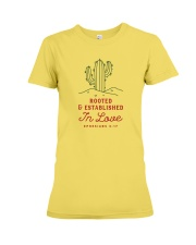 Rooted And Established In Love Premium Fit Ladies Tee front
