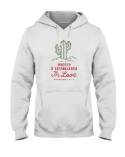 Rooted And Established In Love Hooded Sweatshirt thumbnail