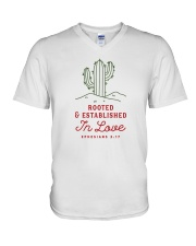 Rooted And Established In Love V-Neck T-Shirt thumbnail