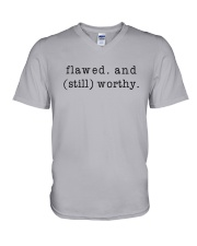 Flawed And Still Worthy V-Neck T-Shirt thumbnail