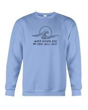 When Oceans Rise My Soul Will Rest Crewneck Sweatshirt front