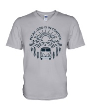 Relax God Is In Control V-Neck T-Shirt thumbnail
