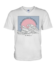 If The Oceans Roar Your Greatness - So Will I V-Neck T-Shirt thumbnail