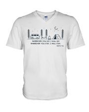 Wherever You Go I Will Go V-Neck T-Shirt thumbnail