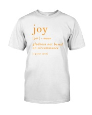 J O Y Classic T-Shirt front