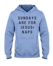 Sundays Are For JESUS And Naps Hooded Sweatshirt thumbnail