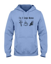 Cross Coffee And Cats Hooded Sweatshirt thumbnail