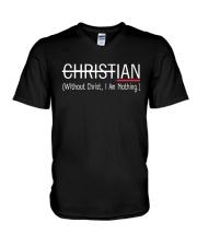 Without Christ I Am Nothing V-Neck T-Shirt thumbnail