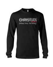 Without Christ I Am Nothing Long Sleeve Tee thumbnail