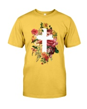 Cross and Flowers Classic T-Shirt front