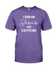 I Run On Jesus And Caffeine Premium Fit Mens Tee thumbnail