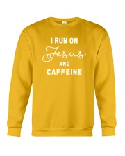I Run On Jesus And Caffeine Crewneck Sweatshirt thumbnail