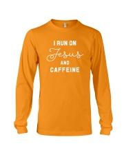 I Run On Jesus And Caffeine Long Sleeve Tee thumbnail